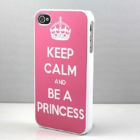 Amazon.com: Keep Calm and be a Princess Snap On Case Cover for Apple iPhone 4 iPhone 4s: Cell Phones & Accessories