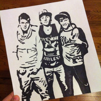 Emblem3 Pop Art by samonstage on Etsy