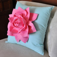 Decorative Pillow Lotus Flower Throw Pillow Pink on by bedbuggs