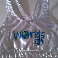 Cheerleading Worlds 2013 Metallic Sports Bra Cheerleading