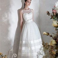 Column strapless high neckline stain wedding dresses 2012 PWD160