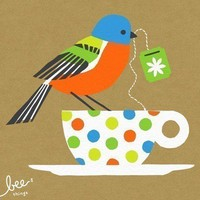 painted bunting limited edition print  kraft by beethings on Etsy