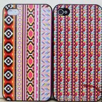 Tribal iphone4/4S painted geometric totems case [160]