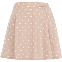 Pink heart print skater skirt  - skirts - sale - women