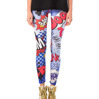 Comic Book Leggings - 2020AVE