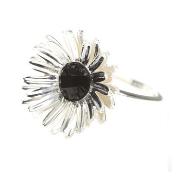 Eyes Of Common Daisy Ring Silver   Jewellery by Eyes Of Common at Thanks   Shop Eyes Of Common Online