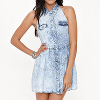Kirra Acid Wash Halter Dress at PacSun.com