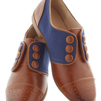 Law of the Landscape Flat Oxford| Mod Retro Vintage Flats | ModCloth.com