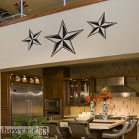 Large Nautical Stars- Vinyl Wall Art - FREE Shipping