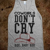 Cowgirls Don ' T Cry-Unisex Athletic Grey Tank
