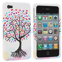 Love Tree Heart White Hard Case Cover for iPhone 4 4S 4G Accessory