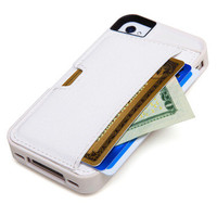 Iphone 4/4s Card Case - White | Electronics &amp; Gadgets | SkyMall