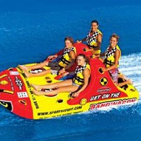 SportsStuff Bandwagon 2+2 Towable Ski Tube 4-Person: Sports & Outdoors