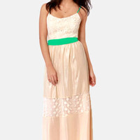 Love Sonnet Cream Lace Maxi Dress