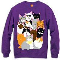 Amazon.com: Enjoi Cat Collage Crew Sweatshirt - Men's: Clothing