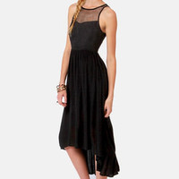 Ladakh Upstate Black High-Low Dress
