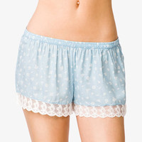 Floral Print PJ Shorts