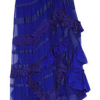 Missoni|Haydee silk-chiffon and crochet-knit skirt|NET-A-PORTER.COM