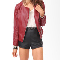 Paneled Faux Leather Jacket | FOREVER 21 - 2030187031