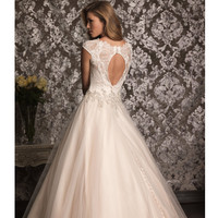 2013 Allure Bridal - Champagne & Silver Swarovski Crystal Wedding Dress - Unique Vintage - Prom dresses, retro dresses, retro swimsuits.
