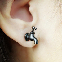 Cool Black Tap Earrings