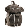 Cute Elephant Canvas Brown Backpack