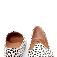 Velma 01 Dalmatian Print Smoking Slipper Pointed Flats