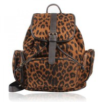 Leopard Prints Backpack  from Hallomall