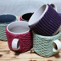 hand knitted mug cosy by fab brick