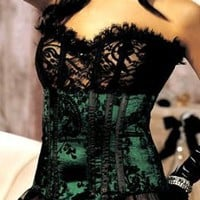 Shirley of Hollywood Women's Velvet Corset