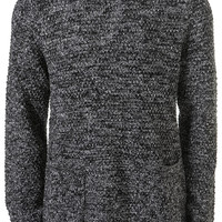 Black textured Pocket Jumper- Chunky Knitwear - Mens Cardigans & Sweaters