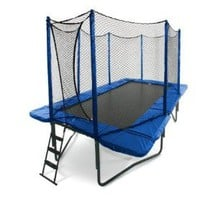 JumpSport 10` x 17` StagedBounce Trampoline with Safety Enclosure: Sports &amp; Outdoors