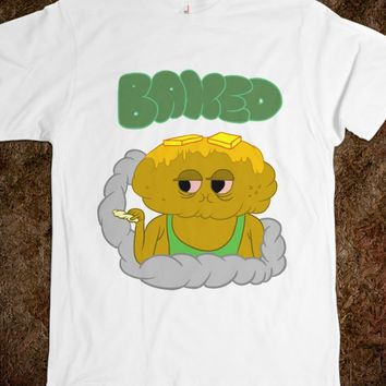 Baked Pot-ato-Unisex White T-Shirt