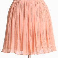georgette pleated skirt in powder by BB Dakota