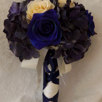 Blue and White Nautical Inspired Wedding Bouquet