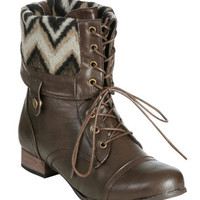 Foldover Combat Boot (Wide Width) | Shop Trending Now at Wet Seal