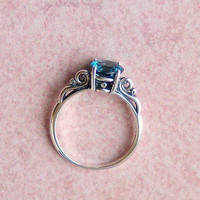 15ct London Blue Topaz Sterling Silver Ring by cavaliercreations