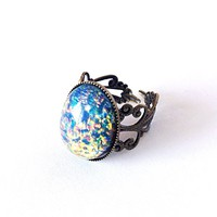 Blue Opal Ring