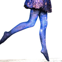 Galaxy Tights Magellanic Cloud Nebula Space Sheer by Shadowplaynyc