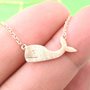 Cute Whale Sea Animal Charm Necklace in Copper from Dotoly Plus