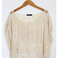 Fringe Crochet Crop Top