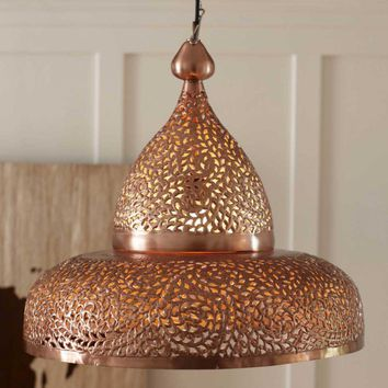 Copper Moroccan Hanging Lamp