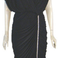1980s Black Vintage Party Prom Dress