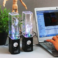 Atake Music Fountain Mini Amplifier Dancing Water Speakers I-station7 Apple Speakers