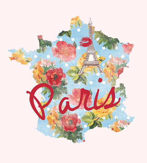 I Love Paris 8x8 Fine Art Print Paris France by bonjourfrenchie
