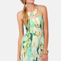 BB Dakota Debralyn Mint Floral Print Dress