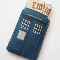 British Police Box Credit Card Holder Business Card by CrankCases