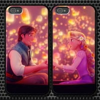 Rapunzel Tangled iPhone 5 4/4S Samsung Galaxy S3 S2 S3 Mini Hard Plastic Glossy Couple Cases 0006