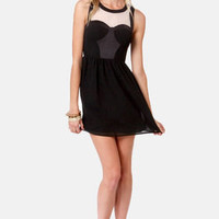 Ladakh Night Call Black Bustier Dress