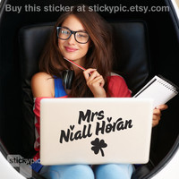 Mrs Niall Horan  One Direction  Laptop Decal 1D Wall by stickypic